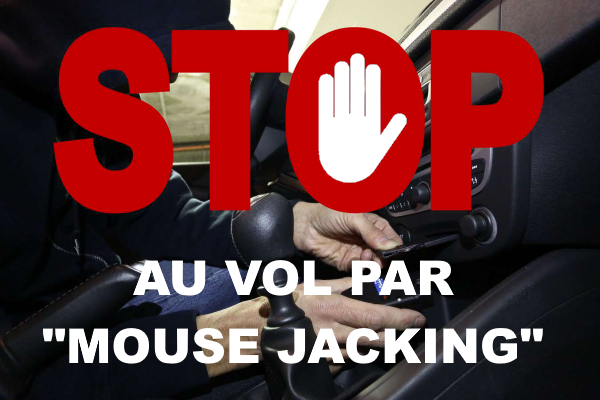 Stop au vol par mouse jacking